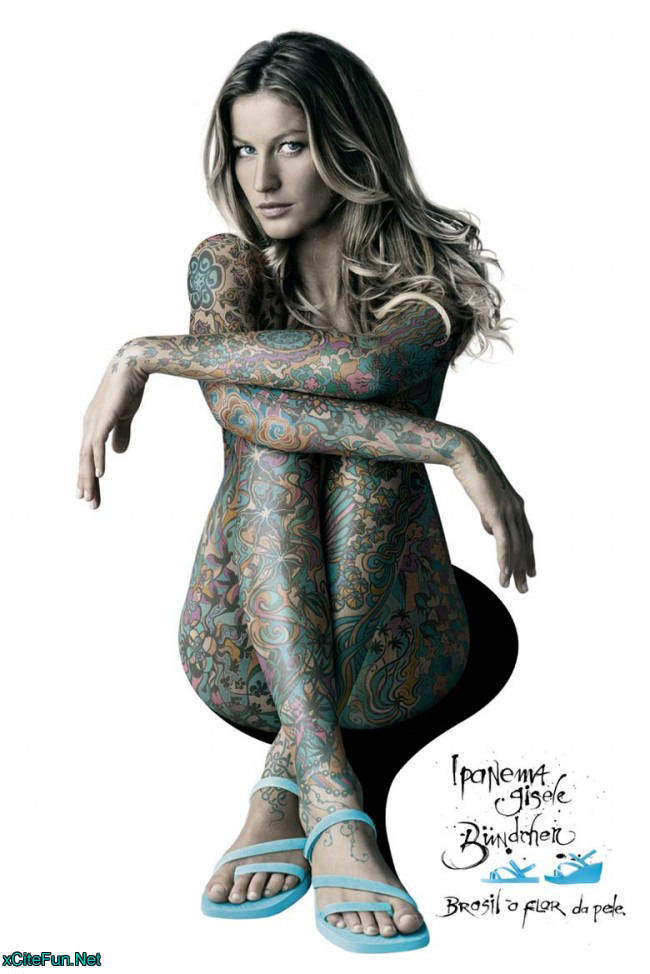 Gisele Bundchen's Full Body Tattoo - Perfect Advertisement : Global
