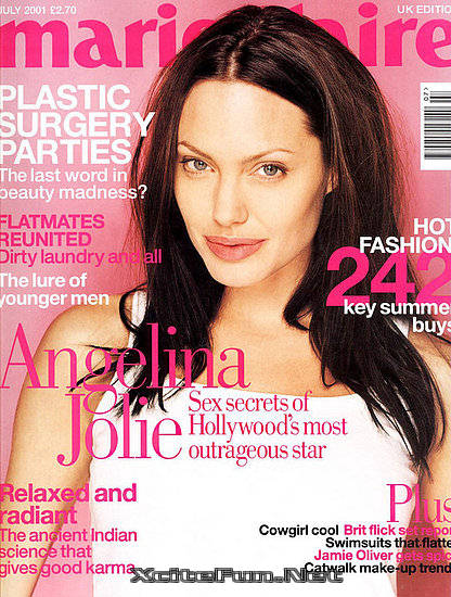 angelina jolie biggest magazine cover page collection