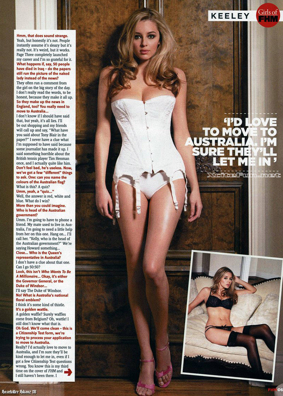 London Sun Page 3 Girls http://forum.xcitefun.net/keeley-hazell-page-3-girl-photo-shoot-for-fhm-australia-t10236.html