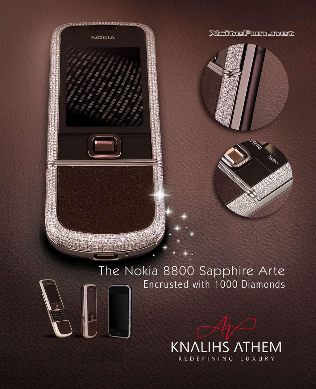 Diamond Encrusted Nokia 8800 Sapphire Arte  Sparkly Gadget