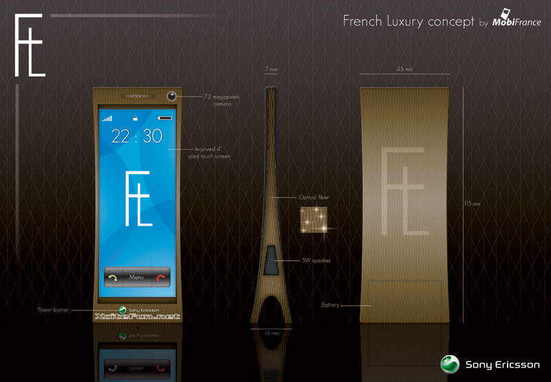 The French Luxury By MobiFrance  Eiffel Tower Concept Phone