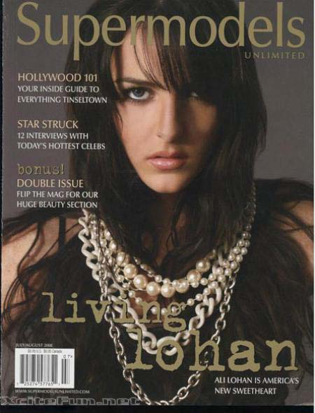 Ali Lohan Mark Pages of Supermodels Magazine Unlimited