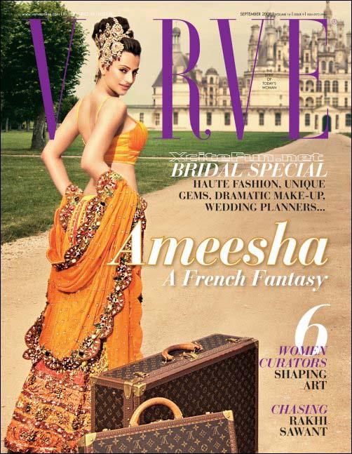 Amisha Patel French Fantasy On Verve Magazine Birde Special : Indian ...