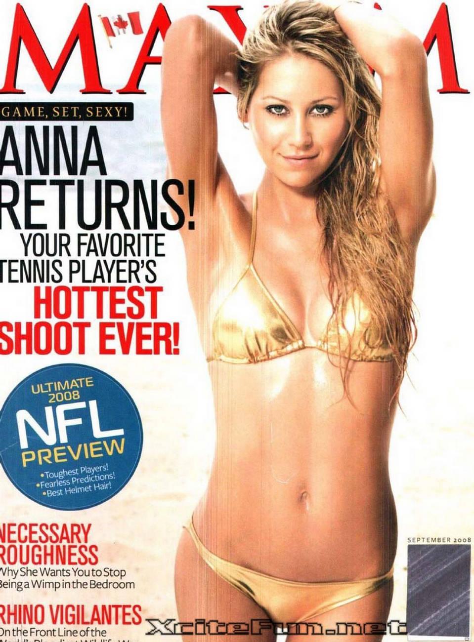 Anna Kournikova Return On Maxim Sep 2008 Game Set Sexy