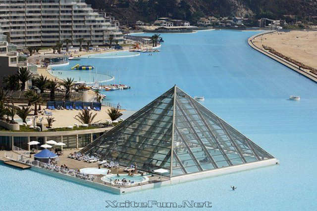 Hotel San Alfonso Del Mar Chile Biggest Pool In The World