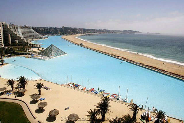 Hotel san alfonso del mar chile world 39 s largest swimming - The biggest swimming pool in chile ...