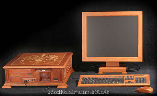 Wooden Computer: Incredible Piece of Technology-Art • XciteFun.net :  beauty art wooden incredible