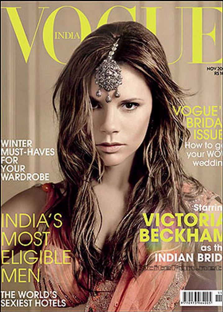 Victoria Beckham Shoots For Vogue India In Bridal Saree