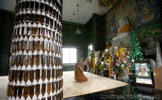 Wat Pa Maha Kaew Temple of Million Bottles Bangkok Thailand