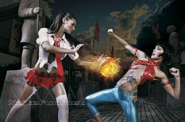 Maxim Street Fighter Girls Tricky Fighting Moves Hot Shot