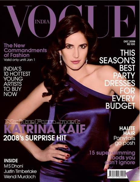 Katrina Kaif Surprise Hit On Vogue Cover Page December 2008