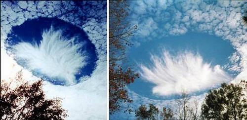 Punch Hole Clouds Layer of Supercooled Clouds