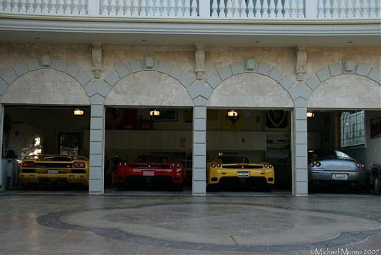 sweet garage ideas - Ferrari Mansion Many a Ferrari cars at one place