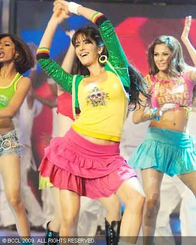 Katrina Kaif Yellow Top and Pink Shorts  Hot Shots