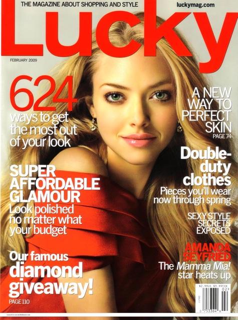 Lucky Magazine May 11: Amanda Seyfried LUCKY MAGAZINE Cover Girl