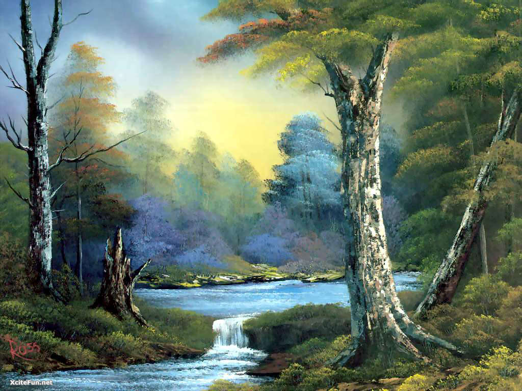bob ross paintings by - photo #2