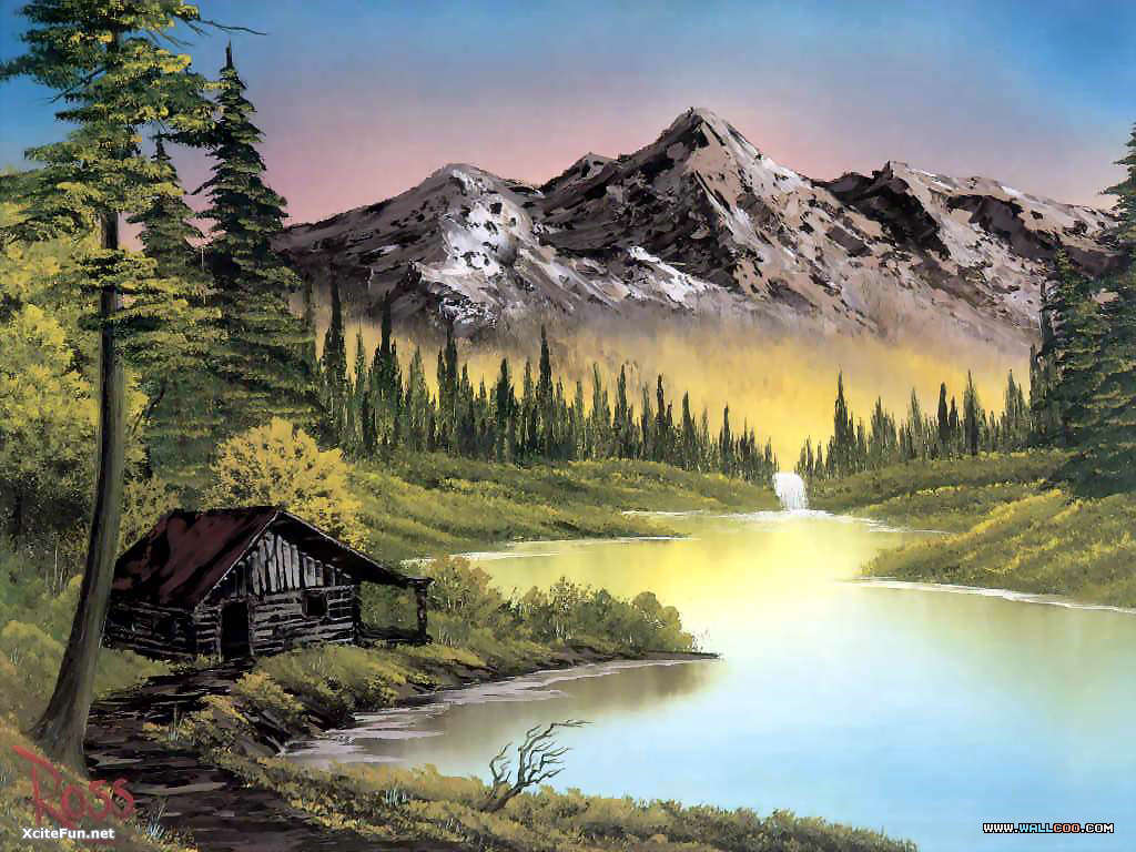 Bob Ross Paintings Beautiful XciteFunnet