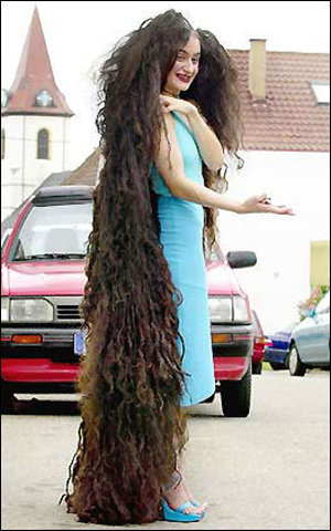 Extra Long Hair : Funny, Strange