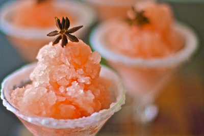 ... and star grapefruit star anise granita white grapefruit and star