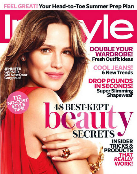 jennifer garner instyle magazine may 2009. Black Bedroom Furniture Sets. Home Design Ideas