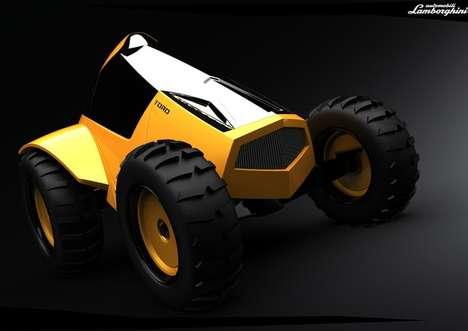 Lamborghini Toro Supercar Tractor  Jason Battersby