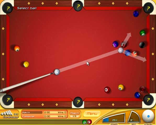 online pool billiards
