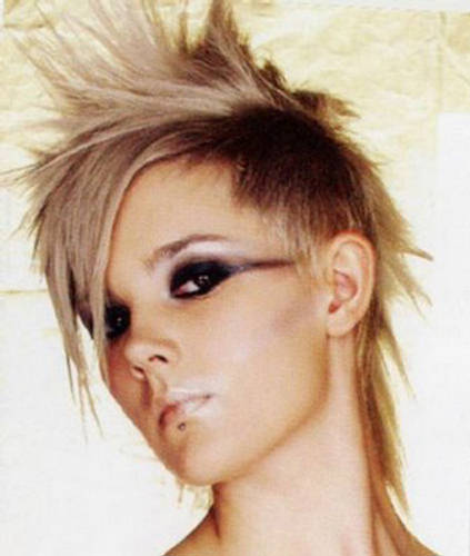 funky hairstyle pictures. Cutting Edge Trendy Woman Hairstyles 2009 4. Crop Cuts: Short crop haircuts