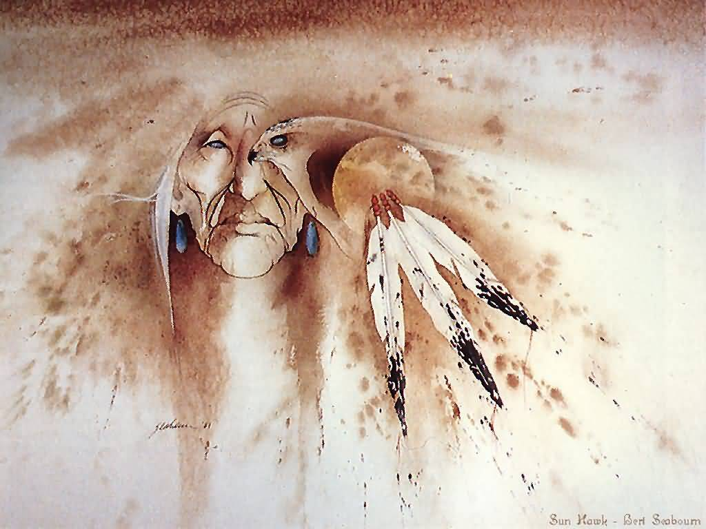 Native American Mix Paintings