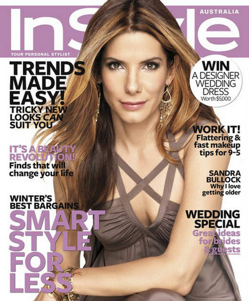 sandra bullock instyle magazine australia 2009 cover shoot. Black Bedroom Furniture Sets. Home Design Ideas
