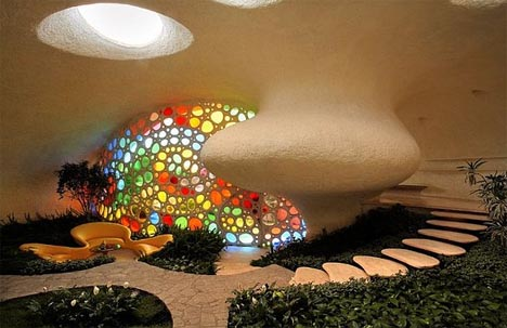 Creative, Colorful & Curved Spiral Shell House Design!! : Funny ...