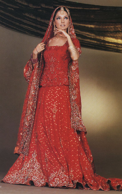 Pakistani bridal dresses for Asian red wedding dresses