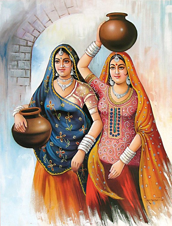 Indian Women Art Paintings