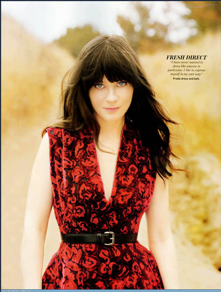 Zooey Deschanel Splender In The Grass  InStyle August