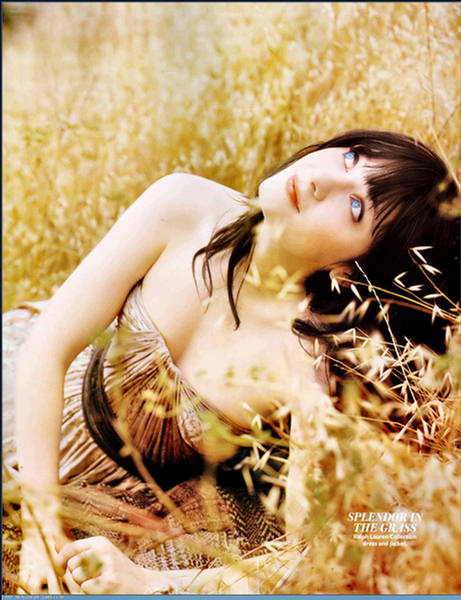Zooey Deschanel Splender In The Grass  InStyle August