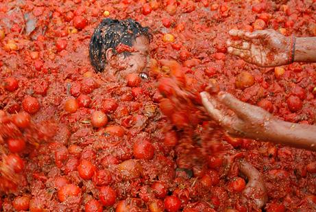 Funny Tomatina Festival