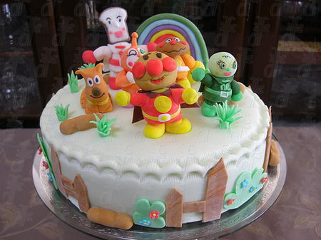 Cake art for Anpanman cake decoration