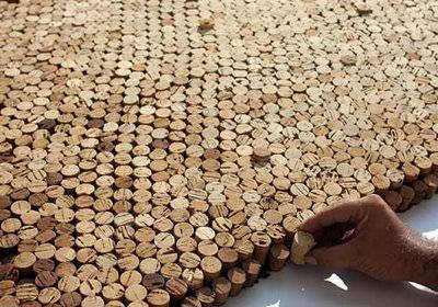 Worlds Biggest Cork Mosaic Saimir Strati