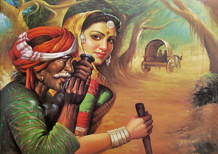 Indian Artist Painting Image - Popular Painting 2017