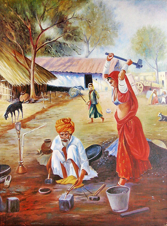 Indian art paintings for Art of indian cuisine