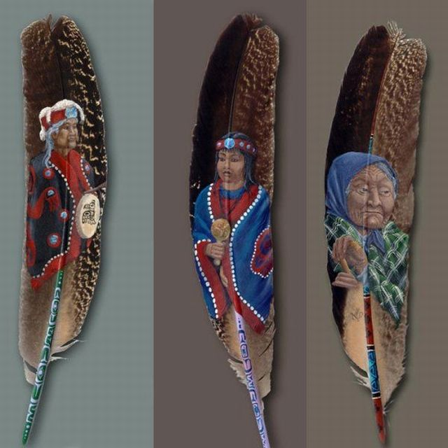 Painting on feathers for Painting feathers on canvas