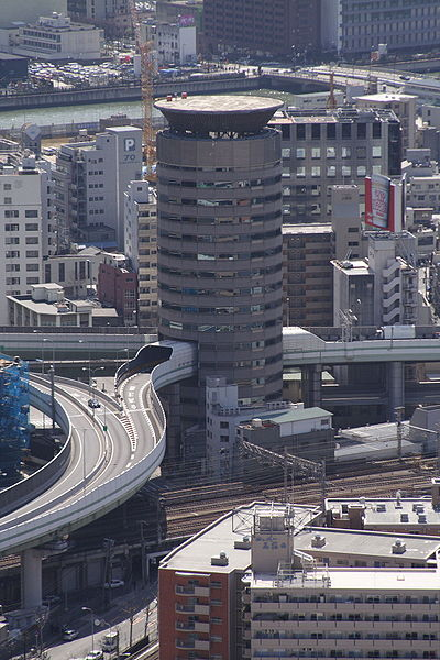 Gate Tower Highway Through The Building  Japan
