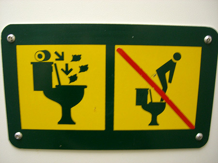 20 Creative And Funny Toilet Signs 1