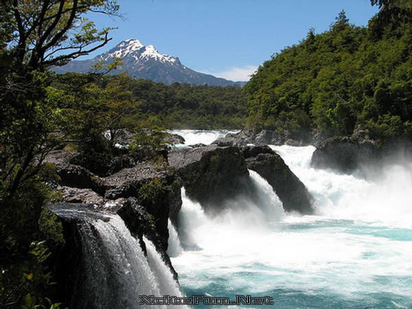 Petrohue Falls Smoking Place National Park Chile