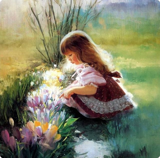 Childhood art painting for Cute watercolor paintings