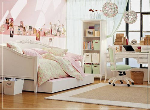 Bedroom the castle of teen girls cute furniture for Cute teen bedroom designs