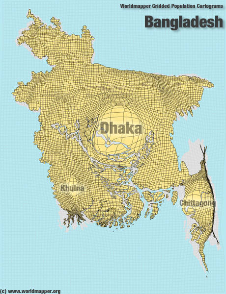population map of china. Population Map Bangladesh