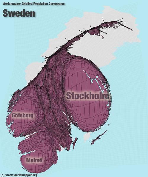 GEOG Fundamentals Of World Regional Geography - Sweden map population density
