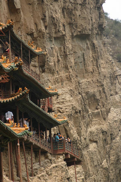 Hanging Temple Amazing Architecture  Huangshan China