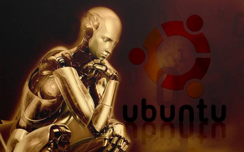 wallpaper ubuntu. Robot Ubuntu