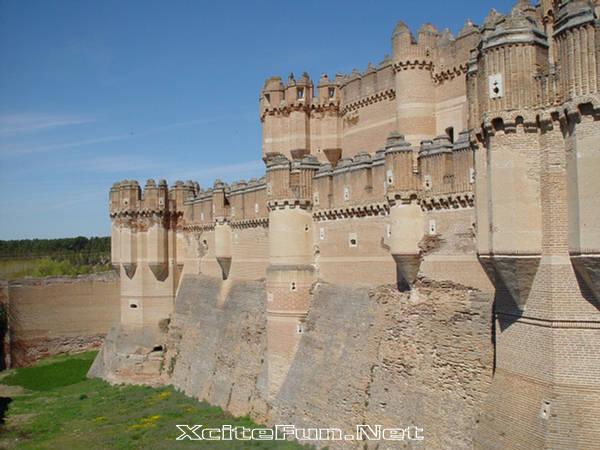 Coca Castle Structure of Plaster  Segovia Spain